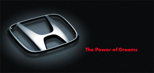 Honda logo, the power of dreams